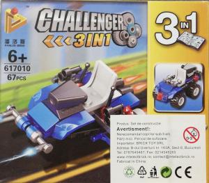 Challenger 3 in 1 set lego masina de lupta