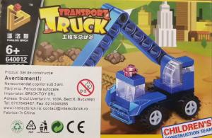 Transport truck set lego excavator albastru