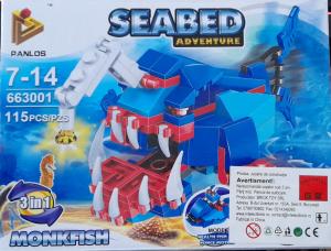 Seabed Adventure Monkfish. Set lego creaturi subacvatice