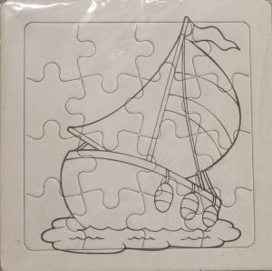 Set 3 puzzle-uri de colorat cu vehicule [0]