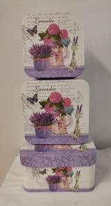 Set 3 cutii Lavender mari