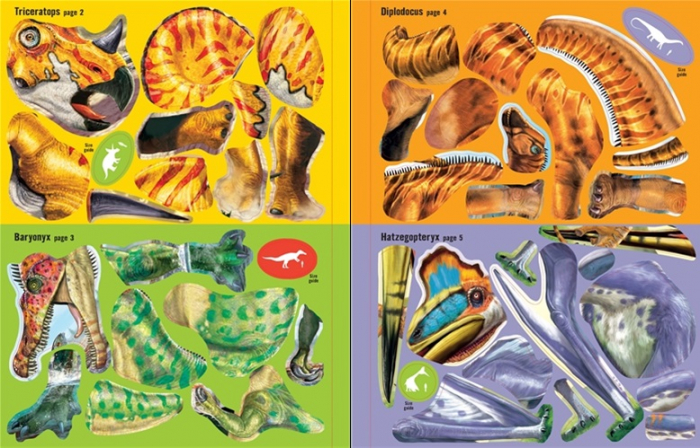 Build your own dinosaurs sticker book [3]