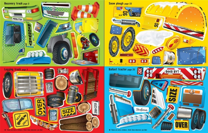 Build your own trucks sticker book [3]