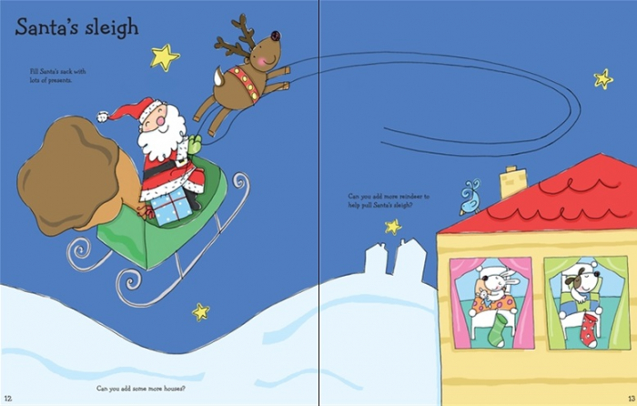 Christmas sticker and colouring book [2]