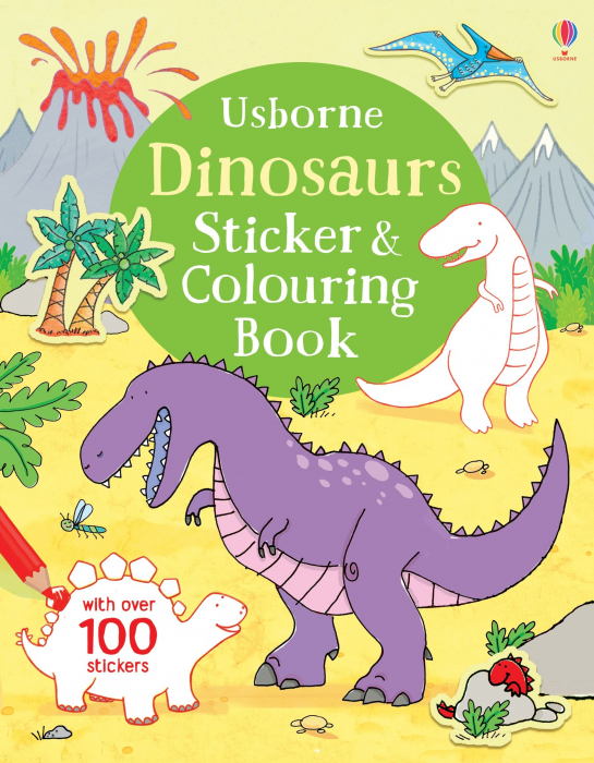 Dinosaurs sticker and colouring book [0]