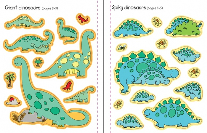 Dinosaurs sticker and colouring book [3]