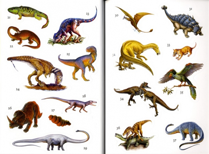 Dinosaurs sticker book [3]