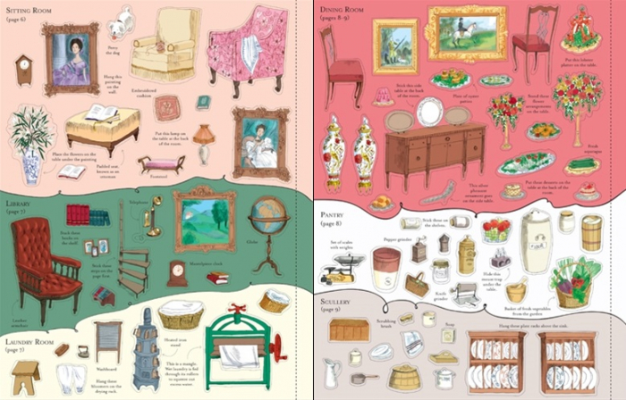 Doll's house sticker book: Country house [3]