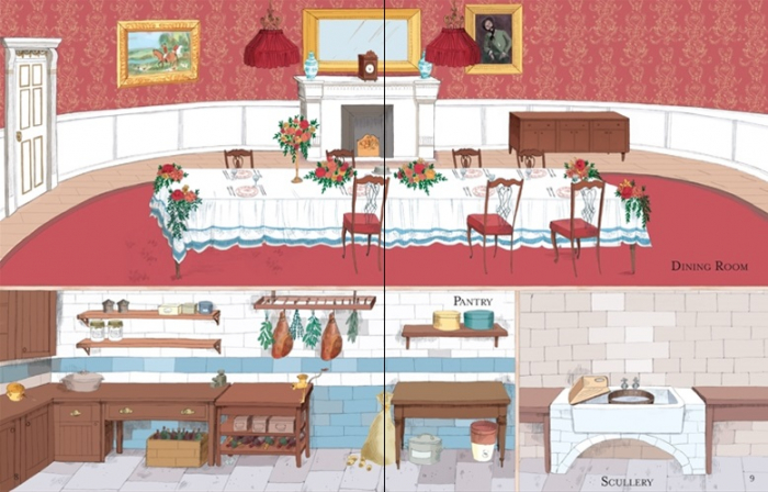 Doll's house sticker book: Country house [2]