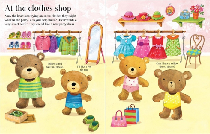 Dress the teddy bears going to the shops sticker book [3]