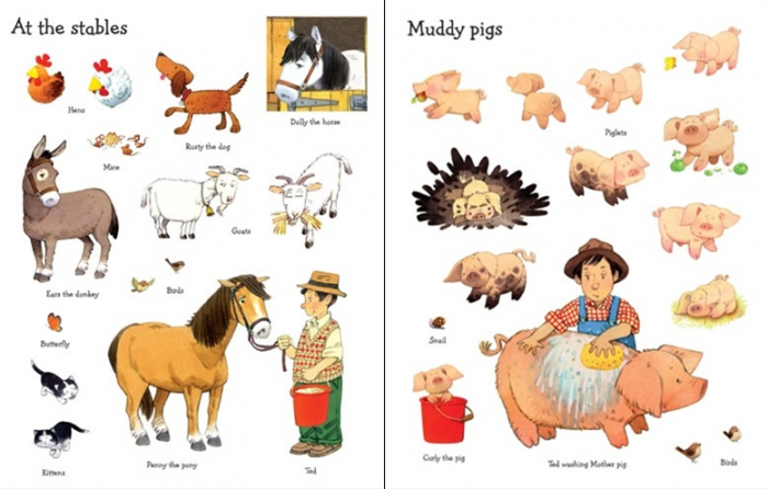 Farmyard Tales animals sticker book [3]