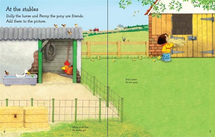 Farmyard Tales animals sticker book [2]