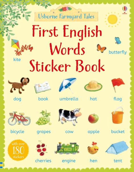 First English words sticker book [0]
