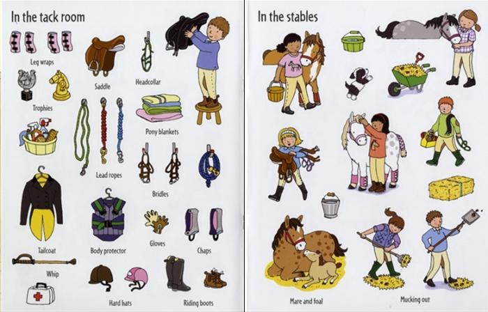 First sticker book Ponies [4]