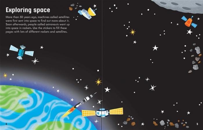 First sticker book Space [2]