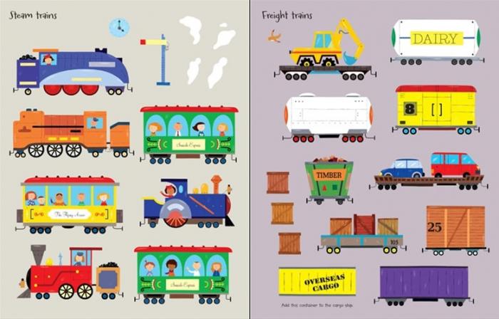 First sticker book Trains [3]