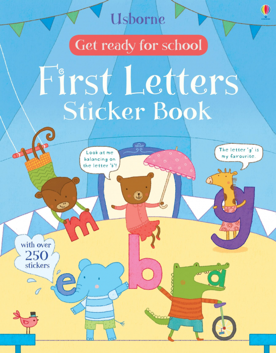 Get ready for school first letters sticker book [0]