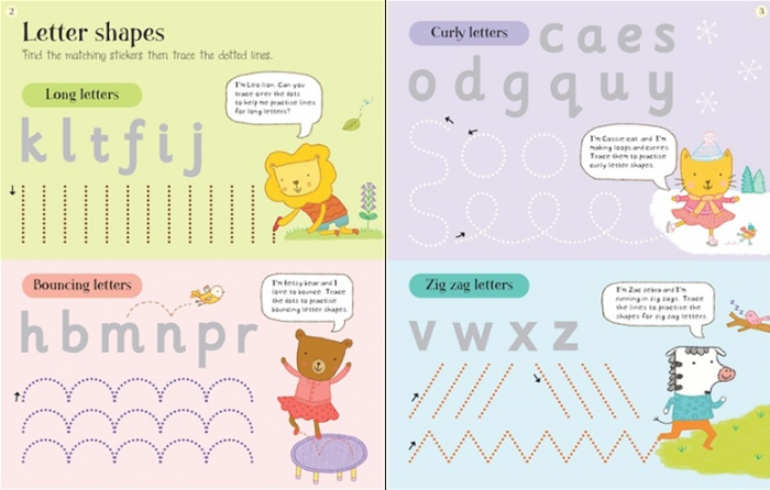 Get ready for school first letters sticker book [1]