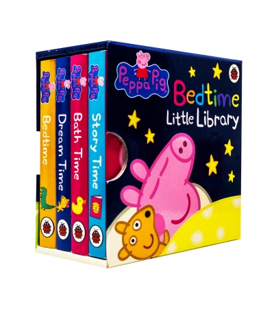Peppa Pig 4 Board Books Set Bedtime Library Collection  [0]