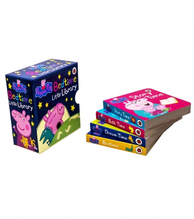 Peppa Pig 4 Board Books Set Bedtime Library Collection  [1]