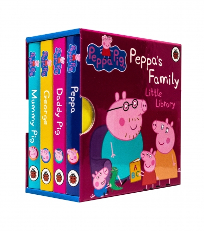 Peppa Pig Peppa's Family Little Library Collection 4 Books Set [0]