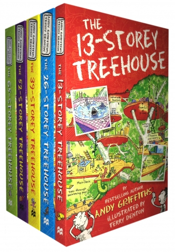 The 13-Storey Treehouse Collection Andy Griffiths and Terry Denton 5 Books Set [0]