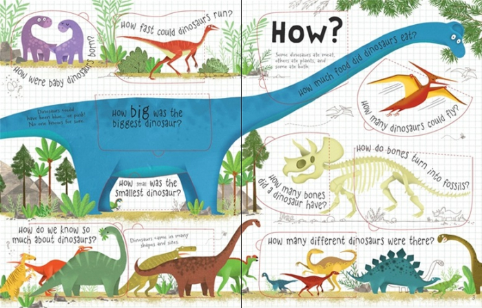 Lift-the-flap questions and answers about dinosaurs [1]