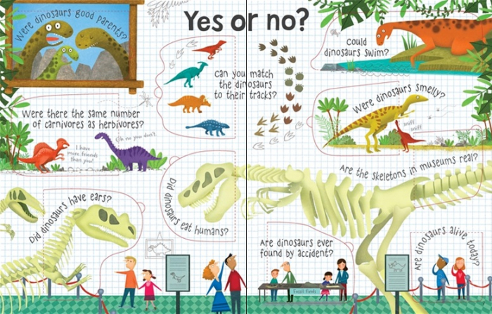 Lift-the-flap questions and answers about dinosaurs [3]