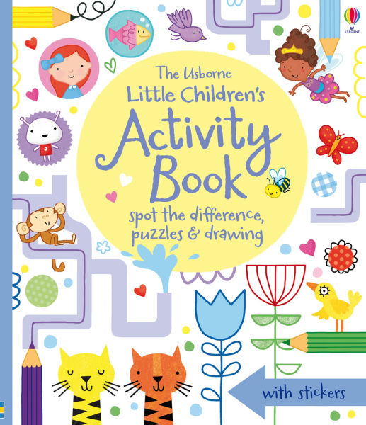 Little children's activity book: spot the difference, puzzles and drawing [0]