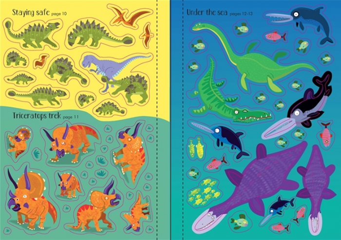 Little first stickers dinosaurs [2]
