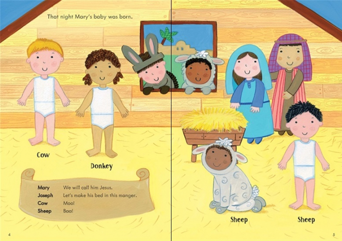 Little first stickers Nativity Play [1]