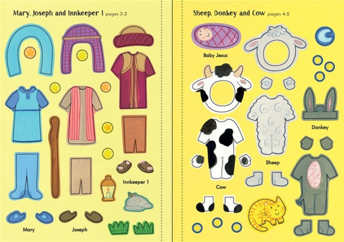 Little first stickers Nativity Play [3]