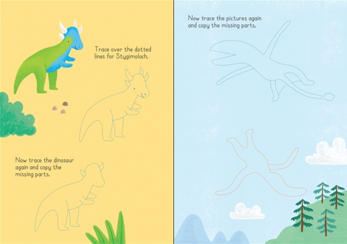 Little wipe-clean dinosaurs to copy and trace [1]