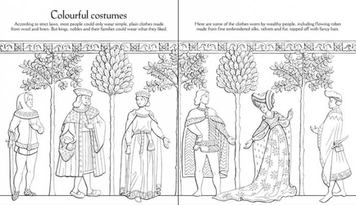 Medieval patterns to colour [3]