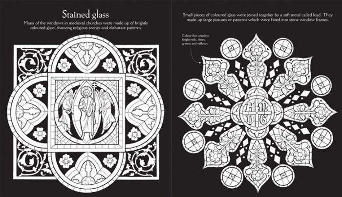 Medieval patterns to colour [1]