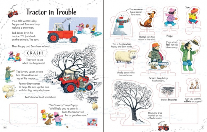 Poppy and Sam's wind-up tractor book [2]