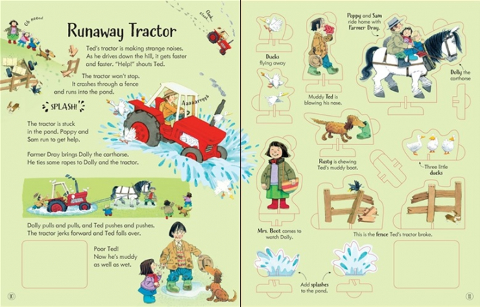 Poppy and Sam's wind-up tractor book [3]