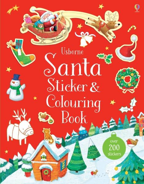 Santa sticker and colouring book [0]
