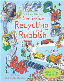 See inside recycling and rubbish [0]