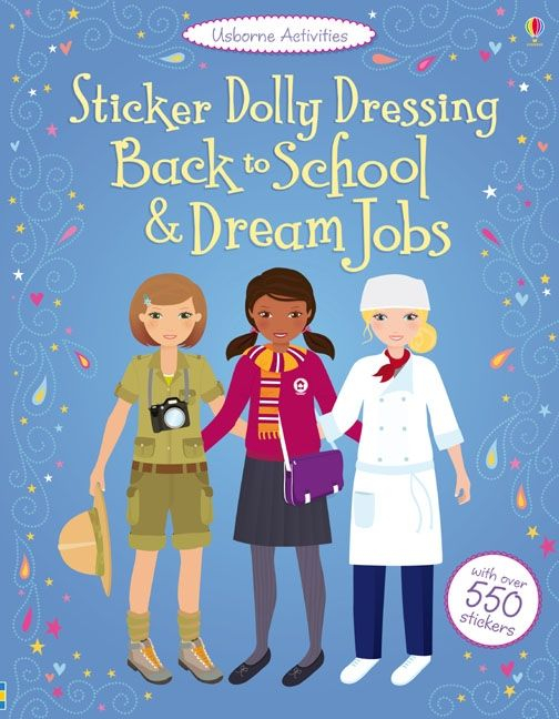 Sticker dolly dressing Back to school and Dream jobs [0]