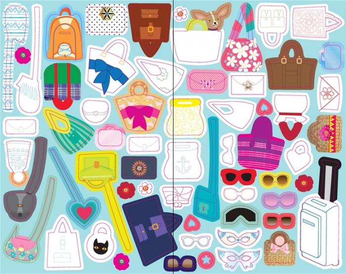 Sticker dolly dressing Fashion designer pad [2]