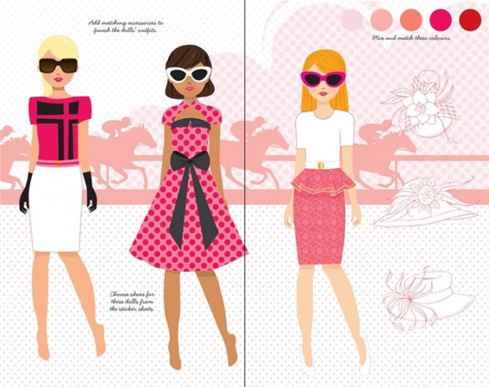 Sticker dolly dressing Fashion designer pad [1]