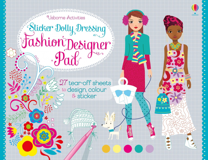 Sticker dolly dressing Fashion designer pad [0]