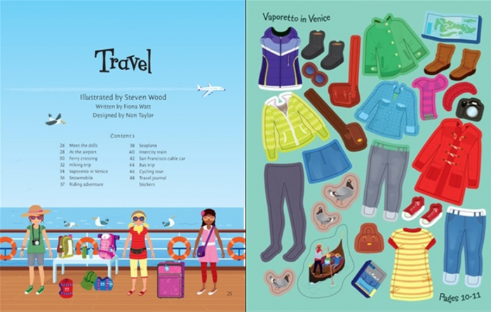 Sticker dolly dressing Holiday and travel [3]