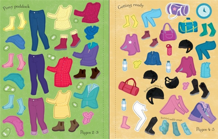 Sticker dolly dressing Horse Show [3]