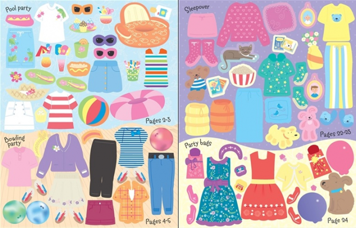 Sticker dolly dressing Parties [3]