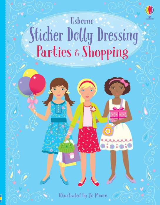 Sticker dolly dressing Parties and shopping [0]