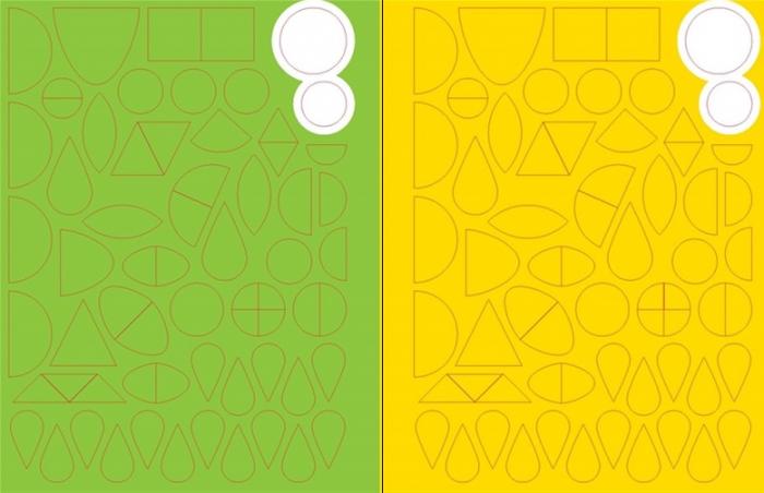 Sticker shapes Easter [3]