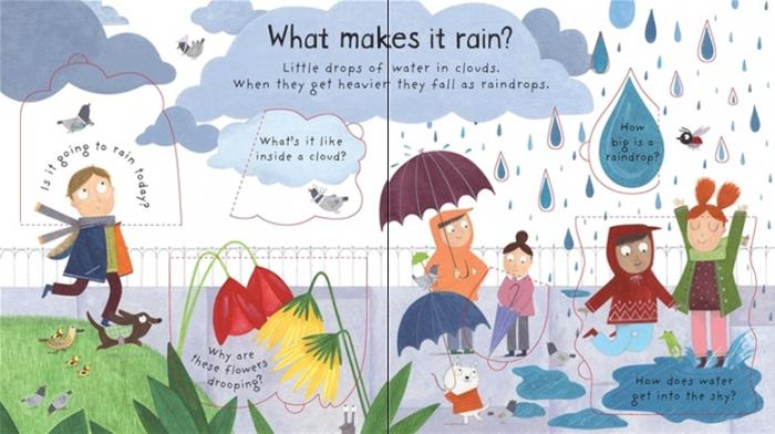 What makes it rain? [1]
