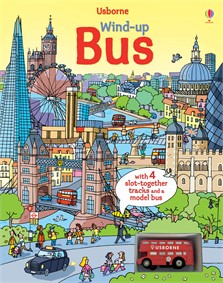 Wind-up bus book with slot-together tracks [0]